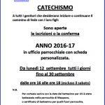 avviso iscr. al catechismo 16-17