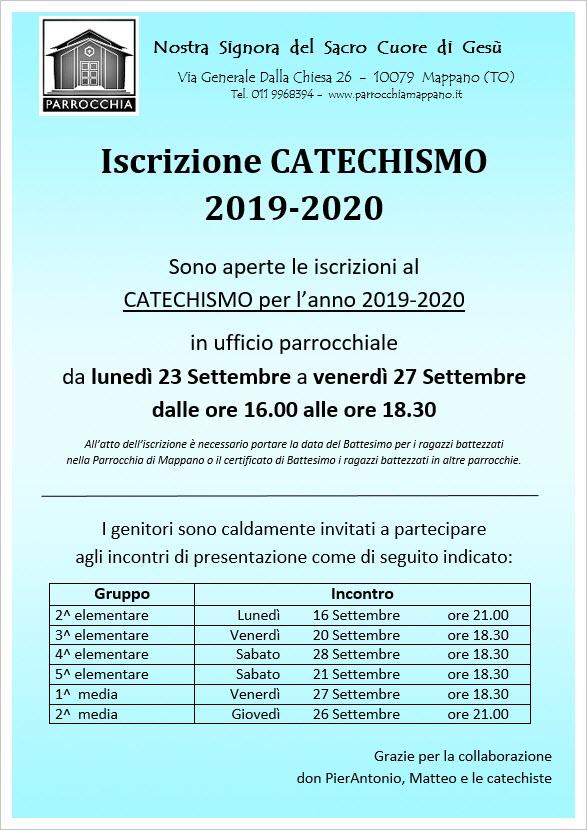 Calendario Pastorale 2020.Iscrizioni Catechismo 2019 2020 E Incontri Con I Genitori